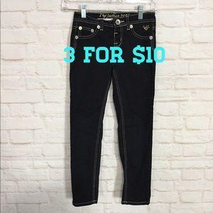 Justice super dark wash skinny jeans 10reg